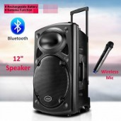 Rechargeable Bluetooth Karaoke Trolly Speaker