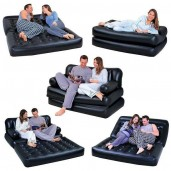 5 In 1 Air Sofa Bed - Black